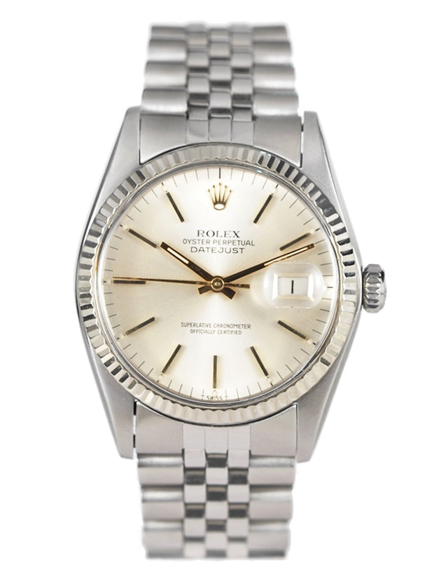 Rolex Datejust Stainless Steel Silver Dial Mens Watch