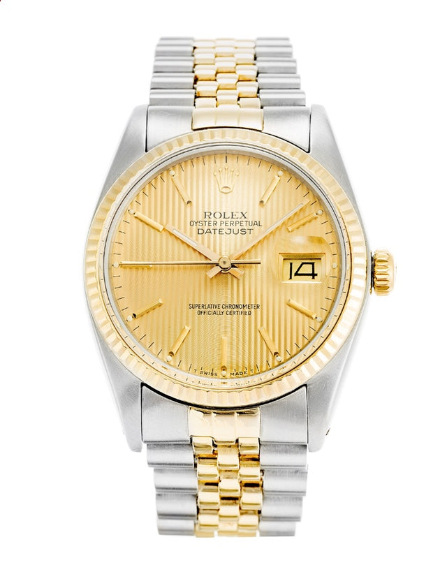 Rolex Datejust Stainless Steel & Yellow Gold Men's Watch.