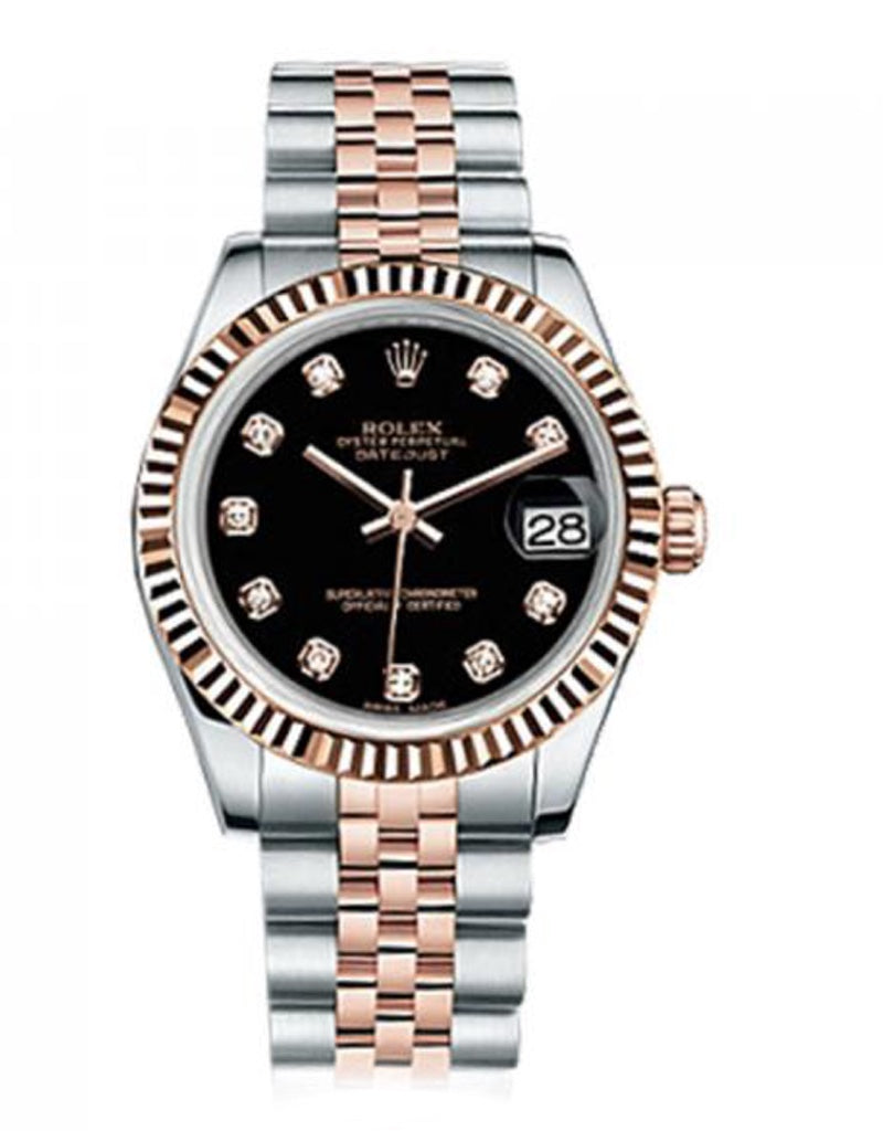 Rolex Datejust 31 Rose Gold & Stainless Steel Ladies Watch