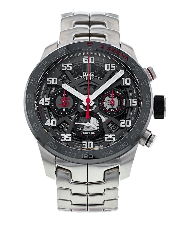 Tag Heuer Carrera Calibre Heuer 02 Senna Special Edition Skeleton Dial Men's Watch