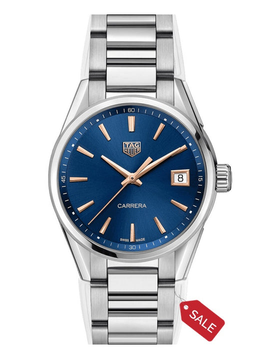 Tag Heuer Carrera Quartz Blue Dial Stainless Steel Women's Watch