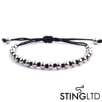 Stainless Steel Beaded Macrame Bracelet Bracelet