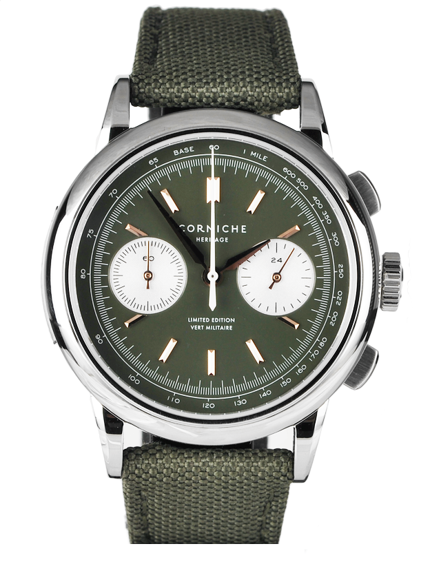 Corniche Heritage Chronograph Vert Militaire Mens Watch