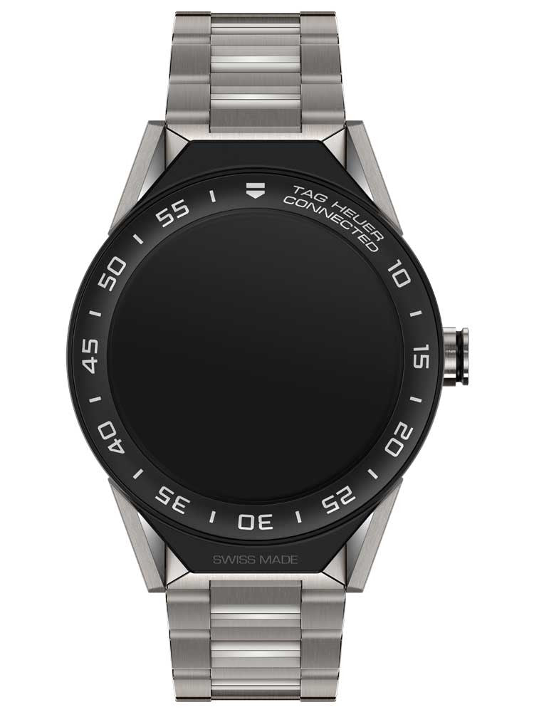 Tag Heuer Connected Modular 45 Titanium Strap With Black Ceramic Bezel Men's Watch
