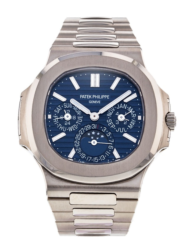 Patek Philippe Nautilus White Gold Mens Watch