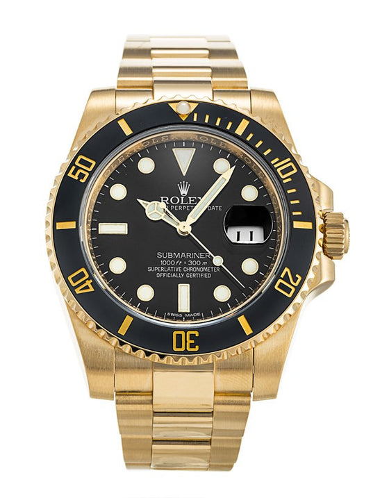 Rolex Submariner Yellow Gold Men's Watch