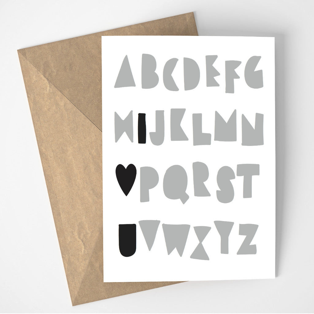 Alphabet Love card
