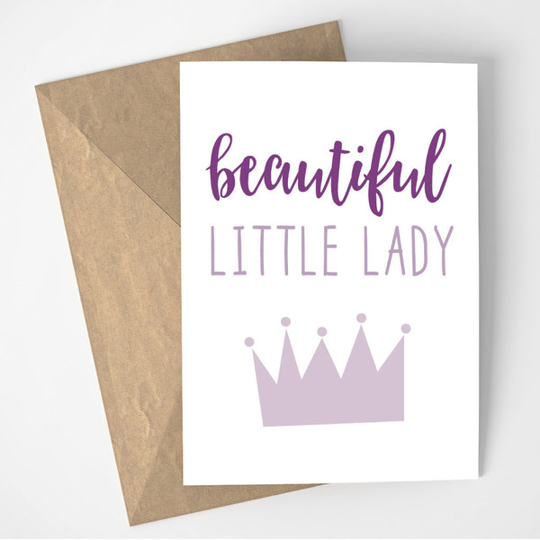 Beautiful Little Lady card