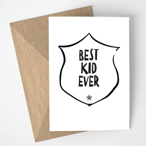 Best Kid Ever card