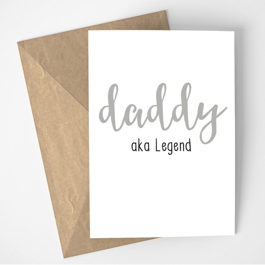 Daddy aka Legend card