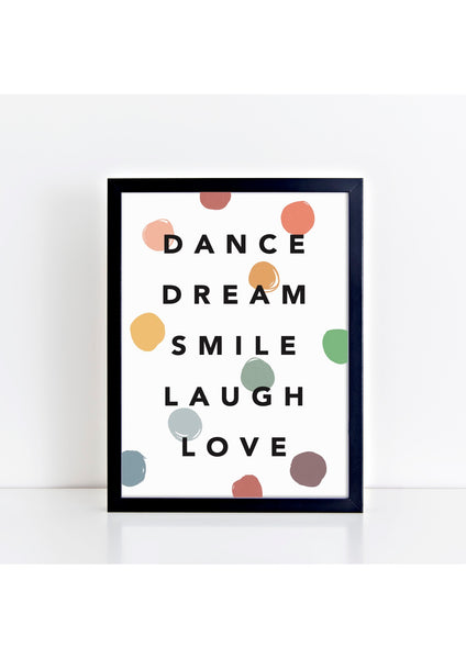 Dance Dream Confetti Muted Print
