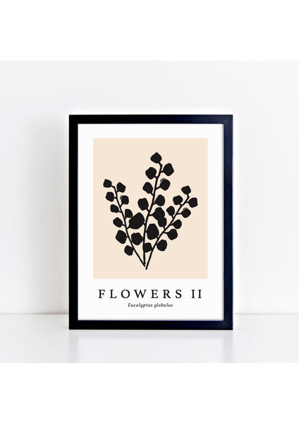 Flowers II Latin - Natural Print