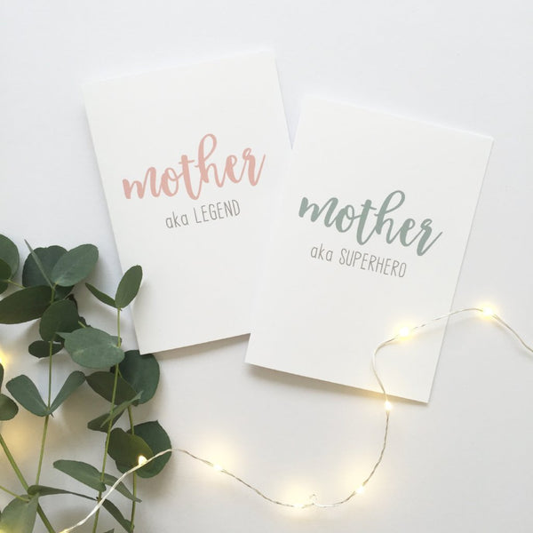 Mother/Mum/Mummy aka card