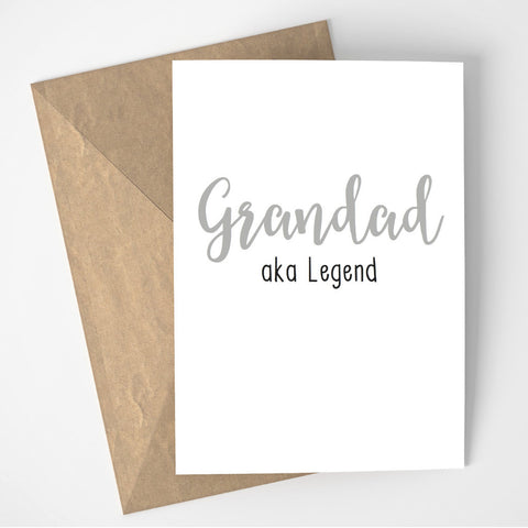 Grandad aka Legend card