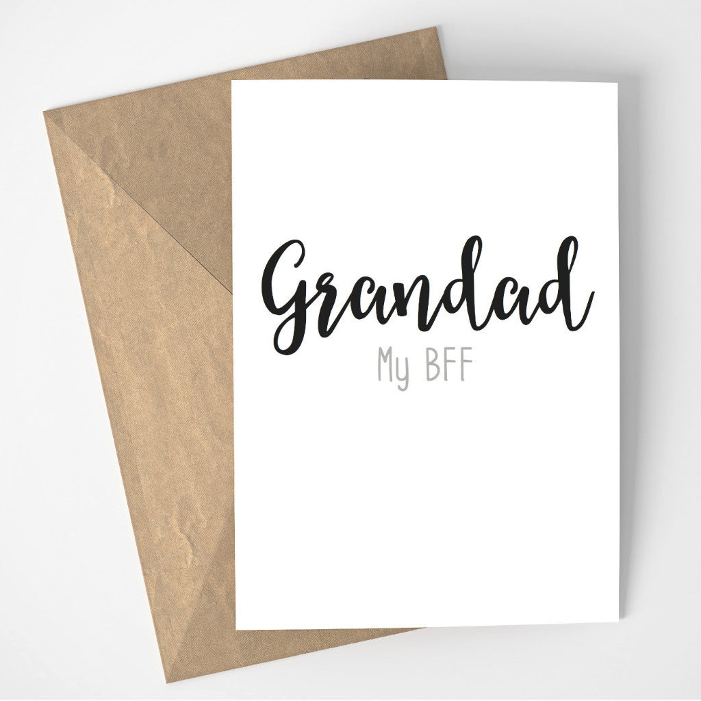 Grandad My BFF card