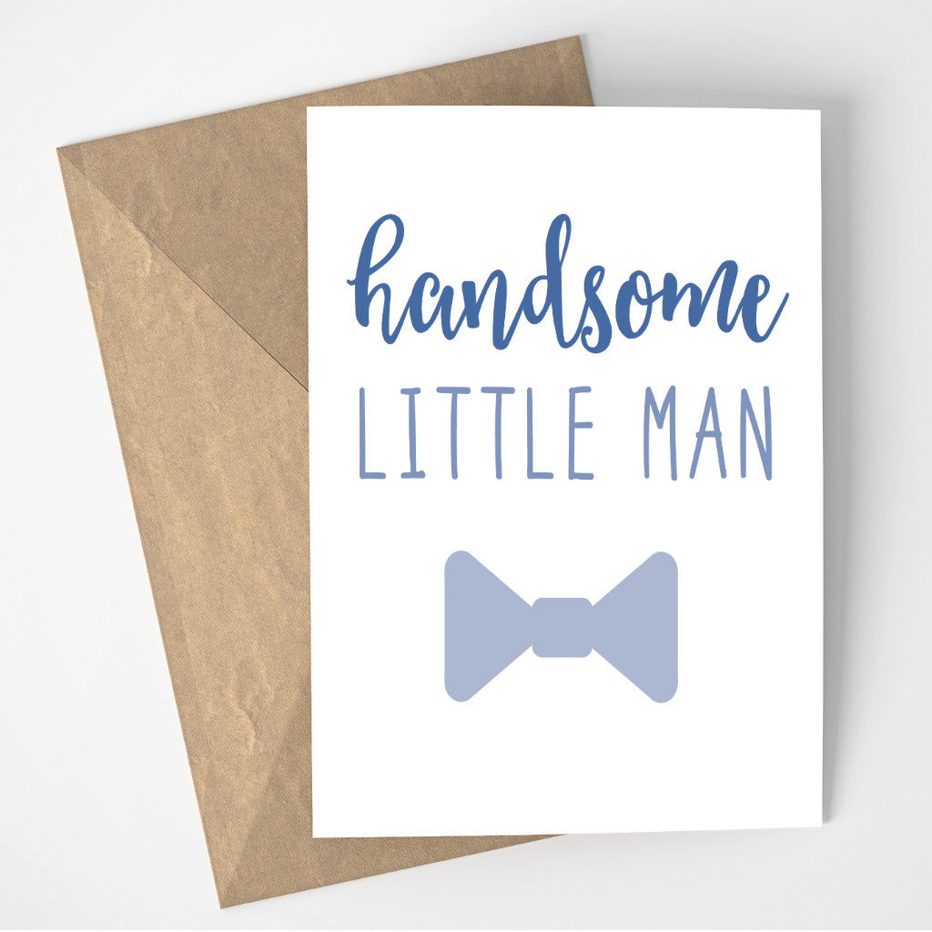 Handsome Little Man card