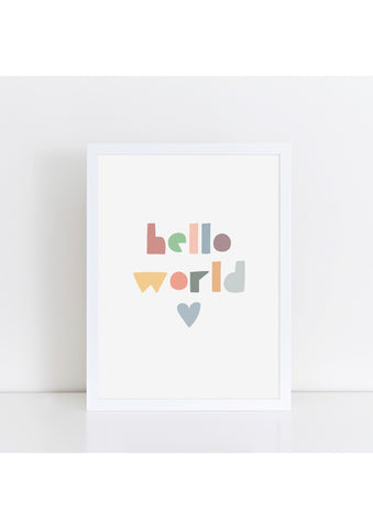 Hello World - Muted Tones