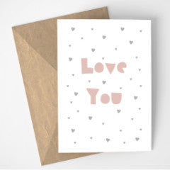 Love You cards - pack of 6 mixed designs