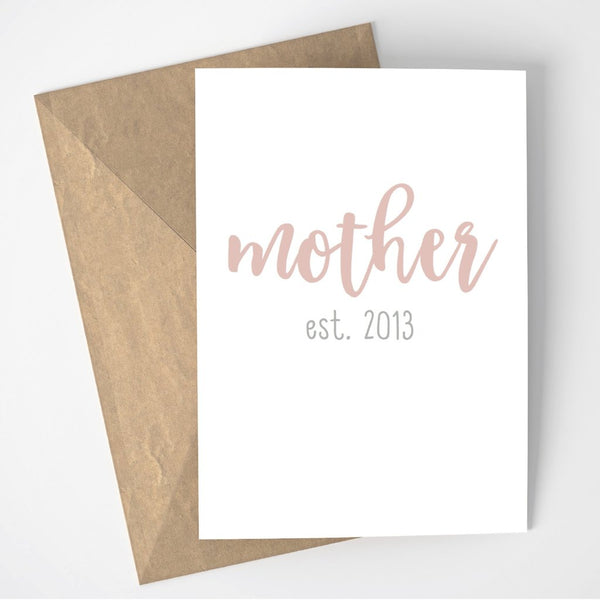 Mother est. card