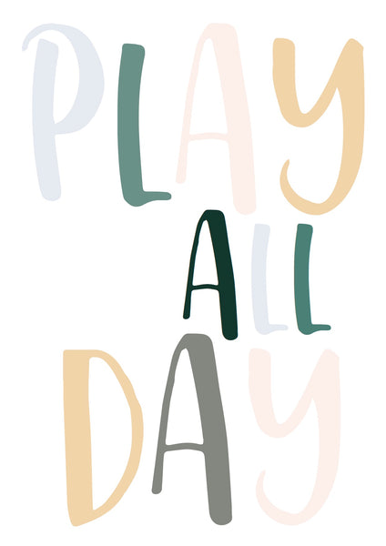 Play All Day - muted tones