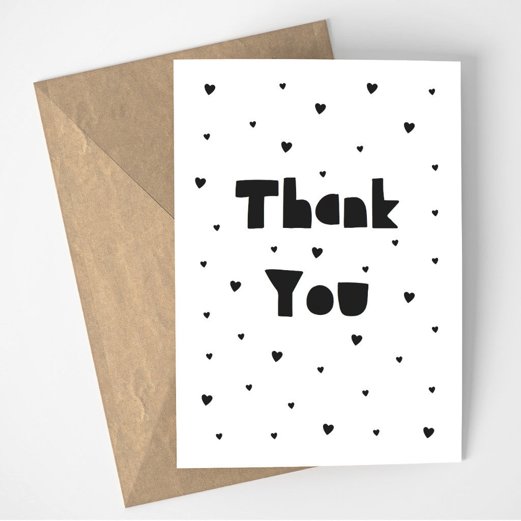 Thank You card - black
