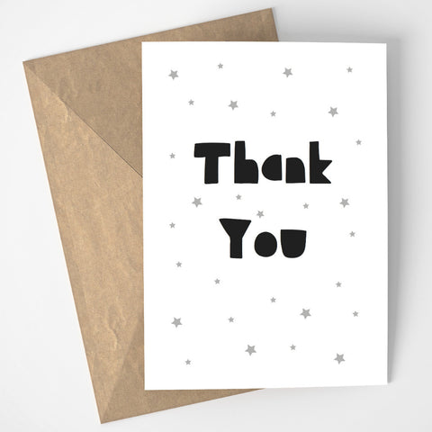 Thank You card - grey/black