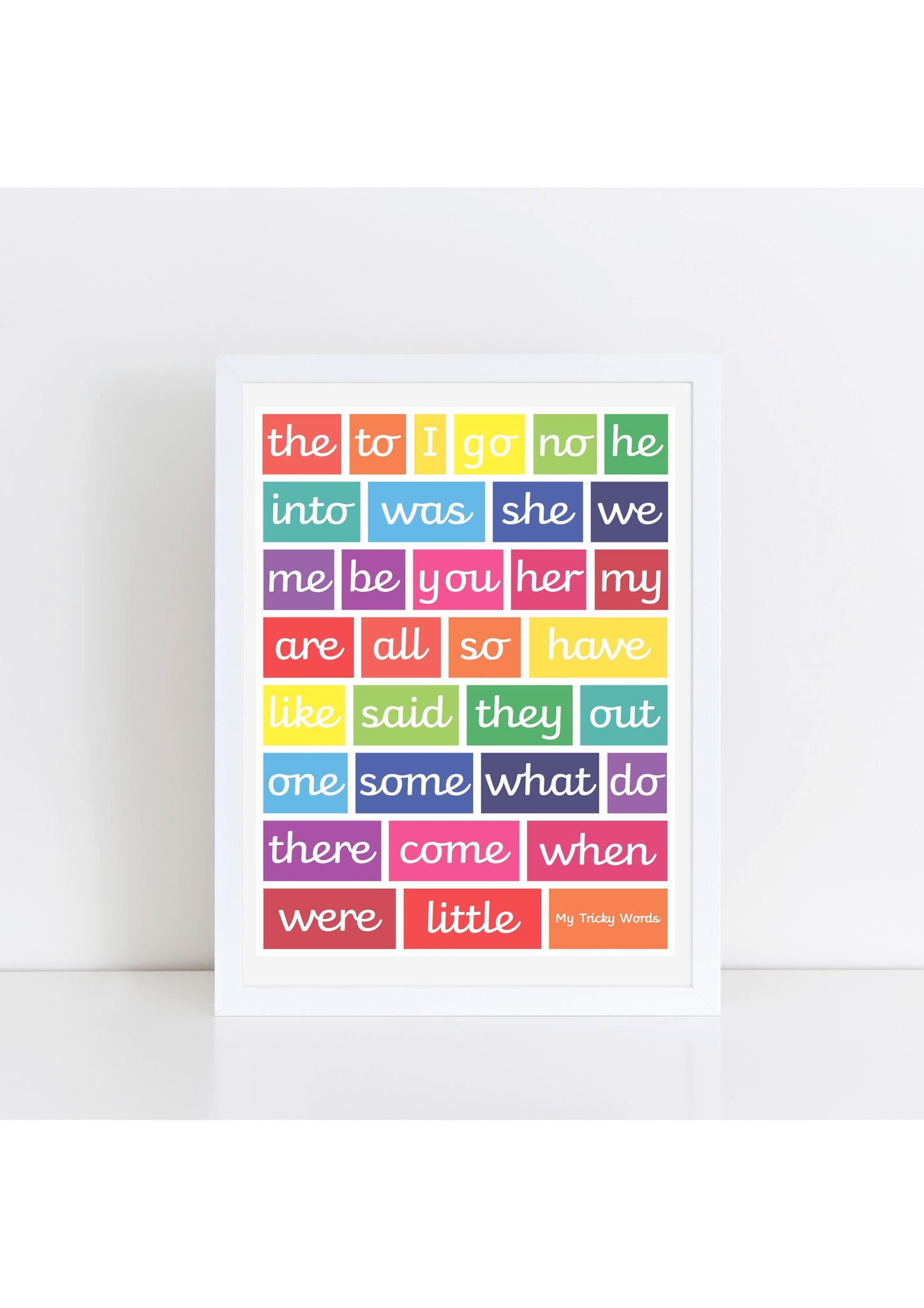 Tricky Words Print - brights