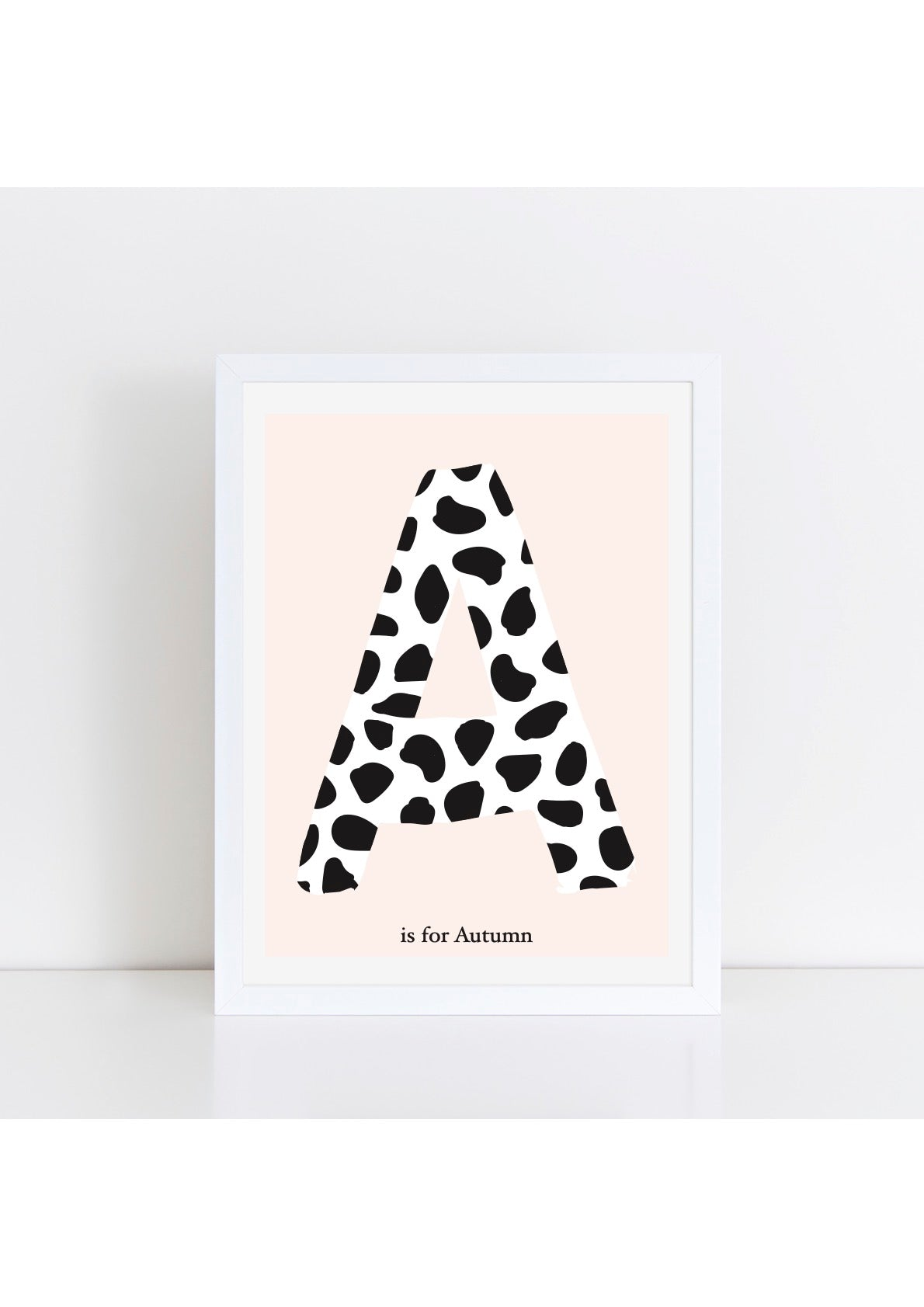 Dalmatian Spot Initial Print - pink background