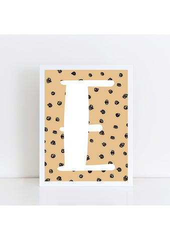 Spotty Initial Print - wicker