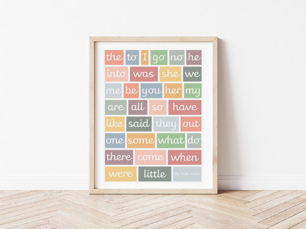 Tricky Words Print - muted