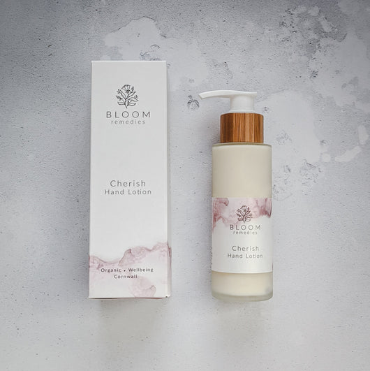 NEW! Cherish Organic Lotion with rose & cedarwood