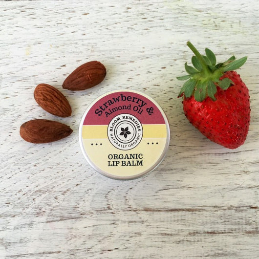 organic strawberry lip balm