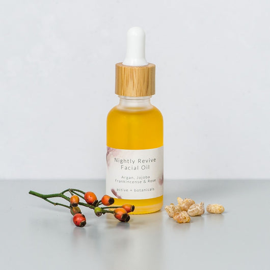Nightly Revive Organic Face Oil with argan oil and frankincense