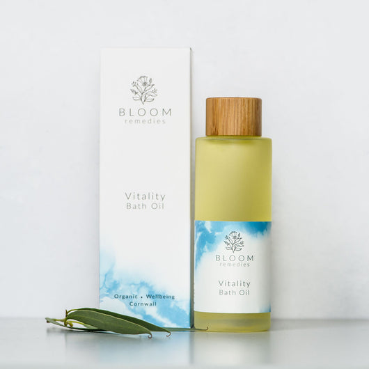 Vitality Organic Bath Oil with eucalyptus & rosemary