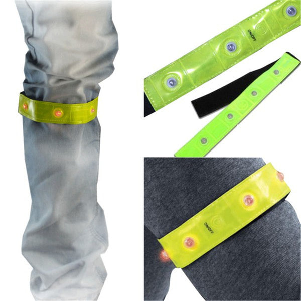 Safety Reflective Yellow Armband Flashlight