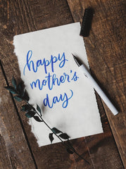 Happy Mother's Day message with pen