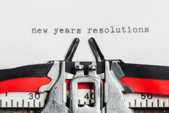New Years Resolutions on Typewriter