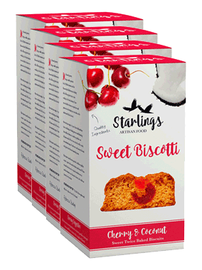 Cherry & Coconut Biscotti