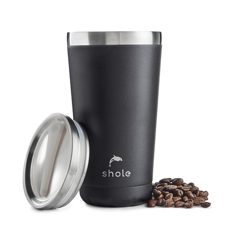 16oz Stainless Steel Coffee Cup - Black