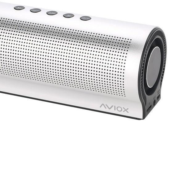 silver bluetooth speaker - wireless dual pairing up to 40w