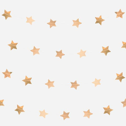 Gold Foil Star Garland