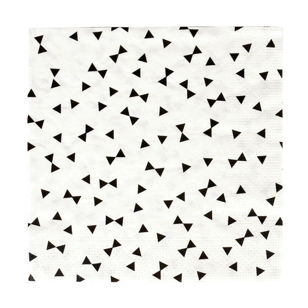 Black & White Bow Tie Napkins (20 Pack)