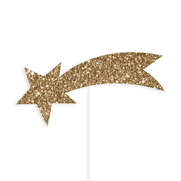 Gold Shooting Star Cake Toppers