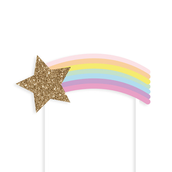 Rainbow Shooting Star Cake Topper