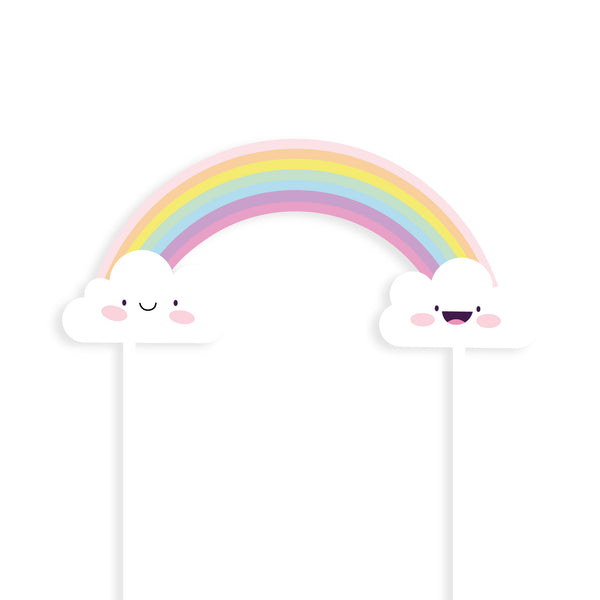 Rainbow & Clouds Cake Toppers