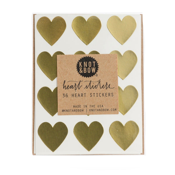 Gold Heart Stickers