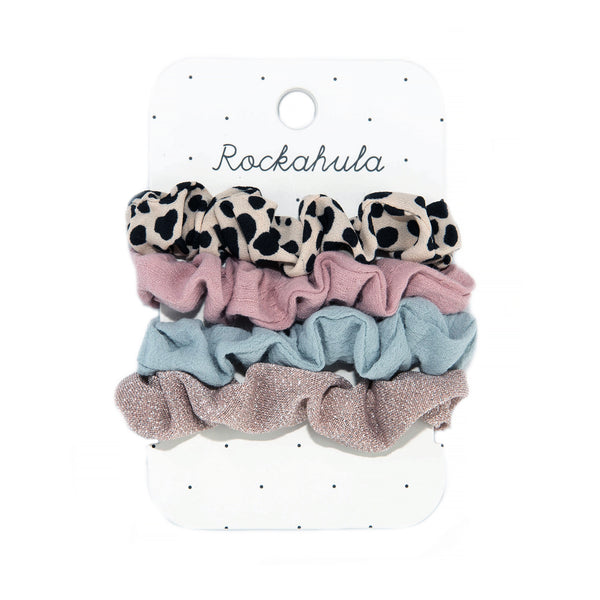 Lily Leopard Scrunchie Set