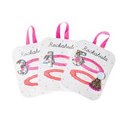 Birthday Glitter Clips - Ages 3, 4, 5