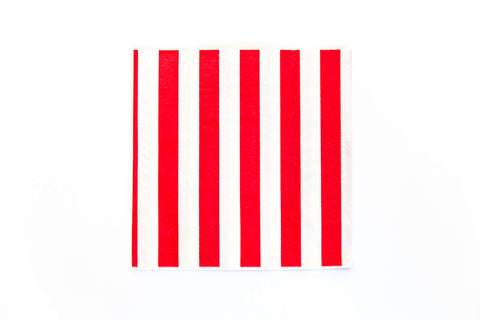 Red Candy Stripe Napkins (20 Pack)