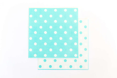 Blue Polkadot Napkins (20 Pack)